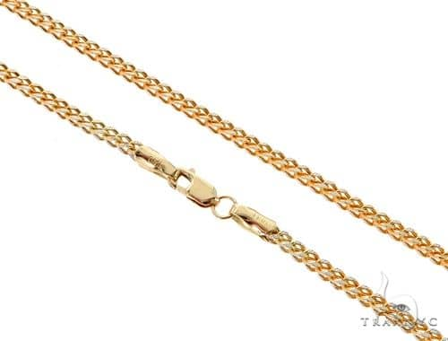 Franco 14K YG Chain 24 Inches 2mm 7.10 Grams 57666 Gold