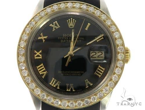 Rolex DateJust Oyster Perpetual 14K Gold Bezel 57675