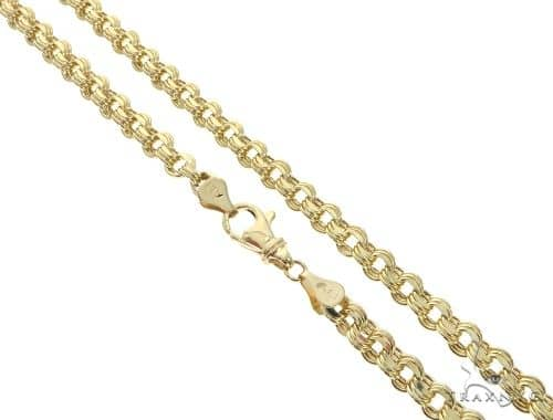 10K YG Flat Venetian Box Link Chain 22 Inches 6mm 13.80 Grams Gold