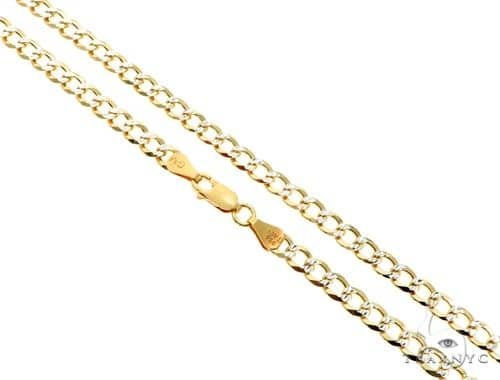 Silver Diamond Cut Cuban Curb Link Chain 24 inches 5mm 19.50 Grams Silver