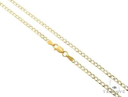 Silver Diamond Cut Cuban Curb Link Chain 30 Inches 3mm 8.00 Grams Silver