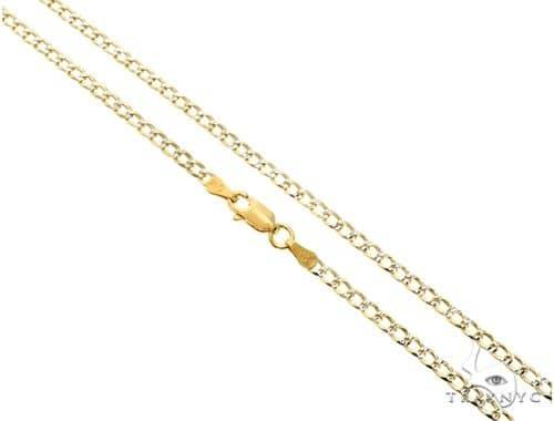 Silver Diamond Cut Cuban Curb Link Chain 24 Inches 3mm 6.60 Grams Silver