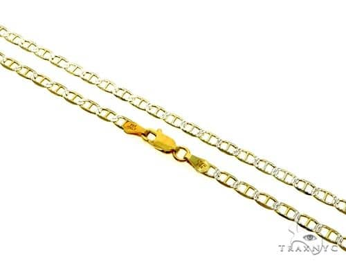 Silver Diamond Cut Mariner Link Chain 30 Inches 3.5mm 9.50 Grams Silver
