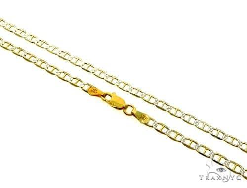 Silver Diamond Cut Mariner Link Chain 24 Inches 3.5mm 7.40 Grams Silver
