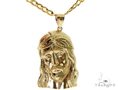 Jesus Head Pendant Chain Set 57722 Style