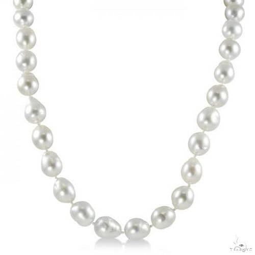 Baroque Freshwater South Sea Cultured Pearl Strand Necklace 9-11.5mm Stone