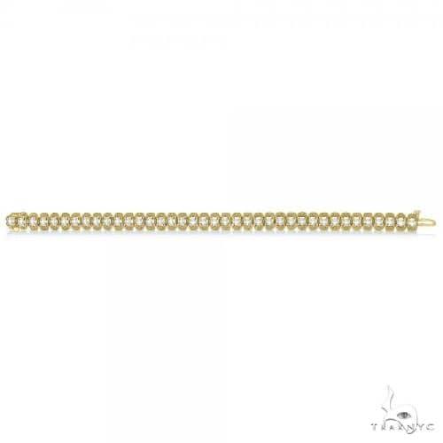 Eternity Diamond Tennis Bracelet 14k Yellow Gold Milgrain Diamond