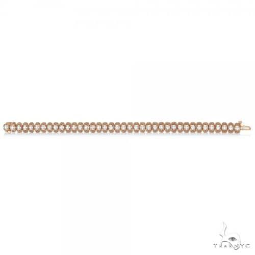 Eternity Diamond Tennis Bracelet 14k Rose Gold Milgrain Diamond