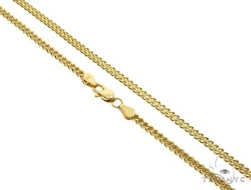 18K YG Franco Chain 19.5 Inches 2.5mm 7.40 Grams Gold