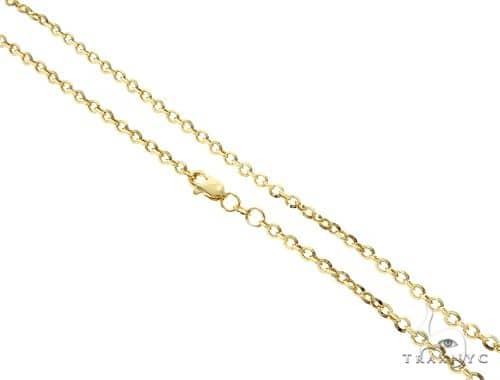 10K YG Cable Link Chain 18 Inches 3mm 2.60 Grams Gold