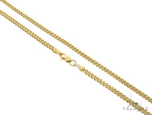 14K YG Franco Link Chain 18 Inches 2mm 4.20 Grams Gold