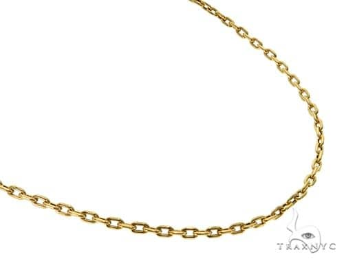 18K YG Cable Link Chain 18 Inches 2mm 3.20 Grams Gold