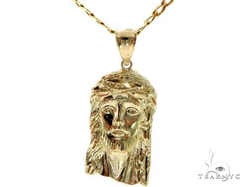 Jesus Head Pendant Chain Set 58413 Style