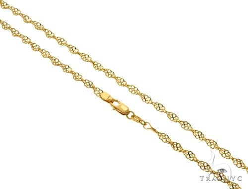 18K YG Singapore Link Chain 18 Inches 3mm 6.40 Grams Gold