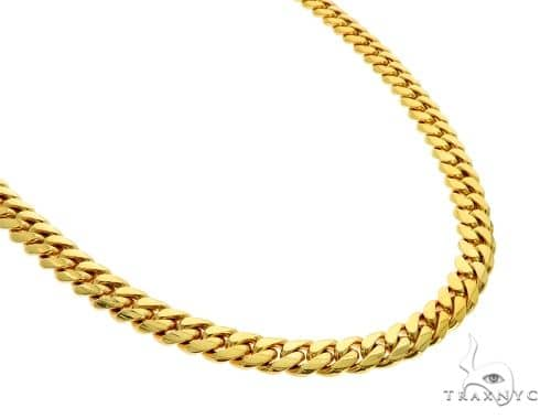 10K YG Miami Cuban Link Chain 30 Inches 9mm 171.0 Grams Gold