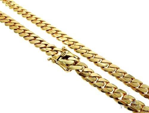 10K YG Miami Cuban Link Chain 30 Inches 12mm 263.0 Grams Gold
