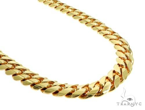 Heavy 10K YG Miami Cuban Link Chain 30 Inches 15mm 499.0 Grams Gold