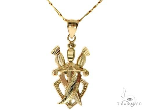 Daggers Pendant Chain Set 58418 Metal