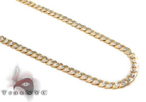 Solid Cuban Diamond Cut Chain 24 Inches 2mm 5.00 Grams 58429 Gold