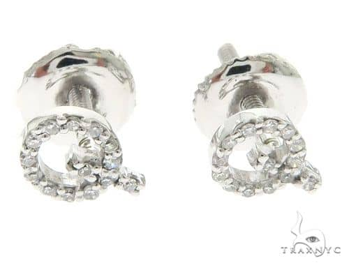 Initial \'Q\' Earrings 58445 Stone