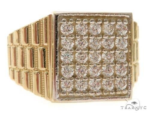 10K Gold CZ Ring 58451 Metal