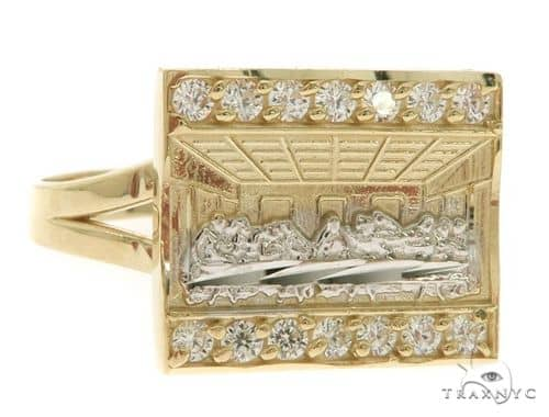 10K Gold Last Supper Ring 58452 Metal