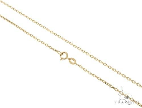 14KY Cable Chain 16 Inches 1mm 1.9 Grams 58455 Gold