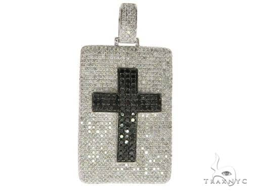 Prong Cross Dog Tag Pendant 58539 Style