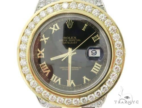 Rolex Datejust 18K Yellow Gold and Steel Oyster Perpetual 58544 Diamond Rolex Watch Collection