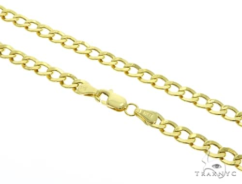 10KY Hollow Cuban Gold Chain 30 Inches 4.5mm 8.6 Grams 58614 Gold