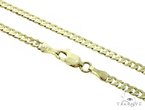 14KY Cuban Link Gold Chain 30 Inches 3mm 11.1 Grams 58616 Gold