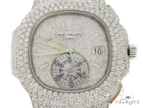 Patek Philippe Nautilus Chronograph Diamond Stainless Steel Watch 58638 Special Watches
