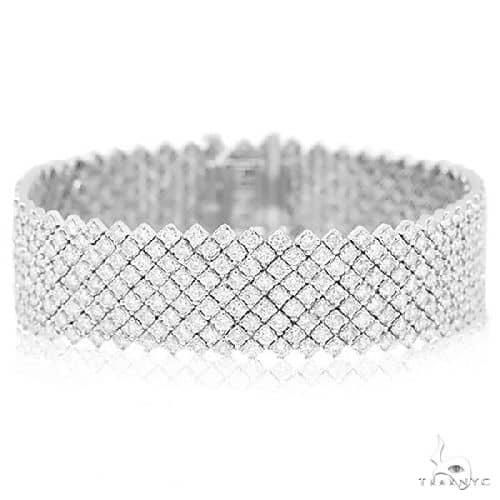18k White Gold Diamond Ladys Bracelet Diamond