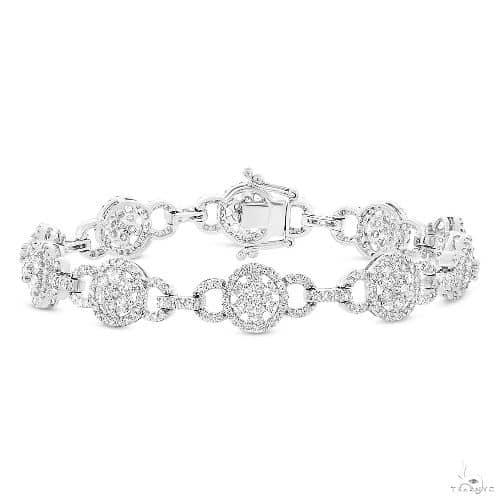 14k White Gold Diamond Ladys Bracelet Diamond