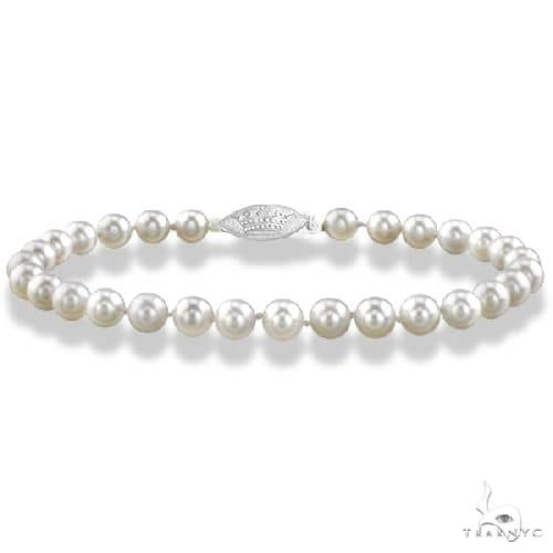 7 inch Akoya Cultured Pearl Bracelet with 14K Gold Clasp 6.0-6.5mm Gemstone & Pearl