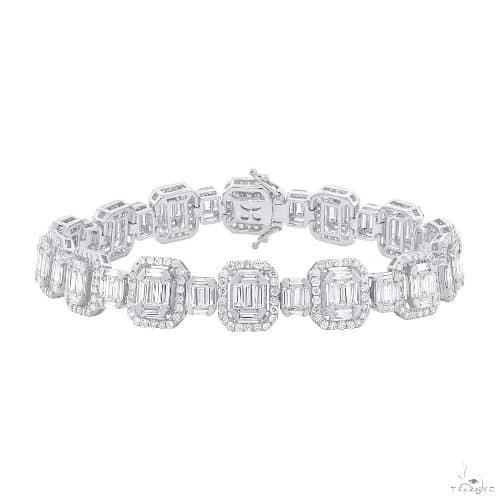 18k White Gold Diamond Baguette Bracelet Diamond