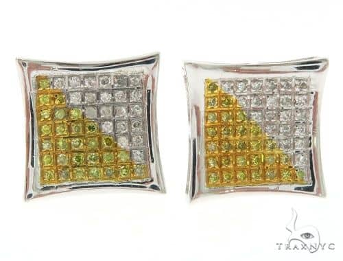 14K White Gold Stud Micro Pave Earrings 61430 Stone