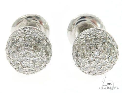 14K White Gold Micro Pave Diamond Earrings 61432 Stone