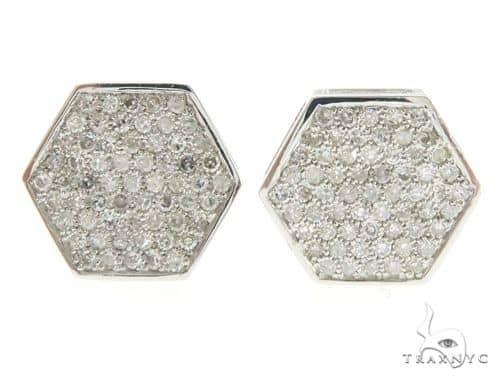 14K White Gold Micro Pave Diamond Earrings 61436 Stone