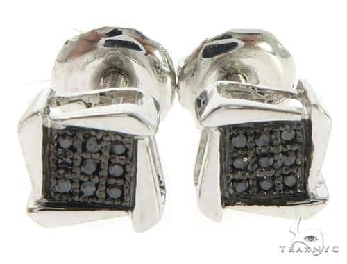 10K White Gold Diamond Earrings 61451 Stone