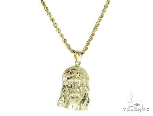 Jesus Pendant and Rope Chain Set 61468 Style
