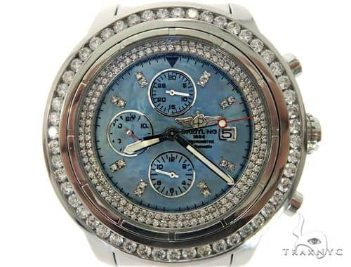Diamond Breitling Watch Mother of Pearl 61473 Breitling