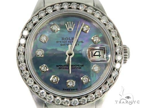Oyster Perpetual DateJust Rolex Watch 61474 Diamond Watch Inactive