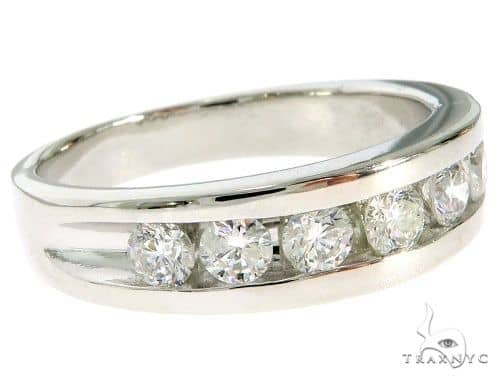 14K White Gold Channel Diamond Band 61483 Stone