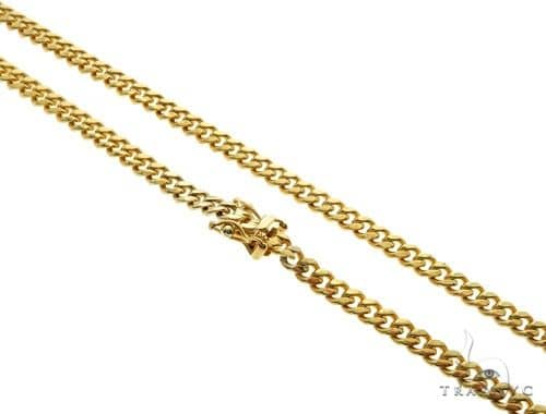 14K Yellow Gold Miami Cuban Link Chain 24 Inches 4.3mm 33.3 Grams 61489 Gold