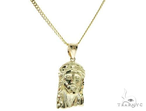 Jesus and Cuban Diamond Cut Chain Set 61493 Style