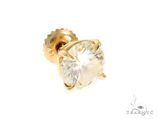 14K Yellow Gold Prong Diamond Single Earring 61497 Stone