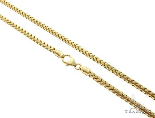 14K Yellow Gold Franco Link Chain 22 Inches 3.5mm 42.10 Grams 61573 Gold
