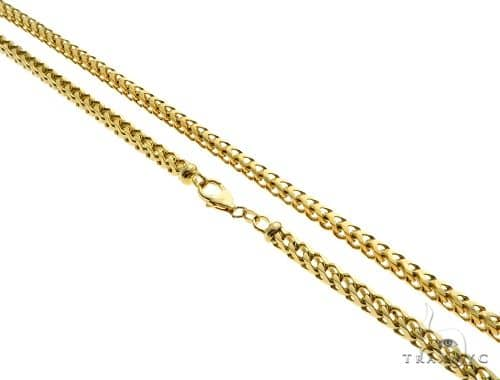 14K Yellow Gold Franco Link Chain 30 Inches 4.3mm 76.1 Grams 61574 Gold