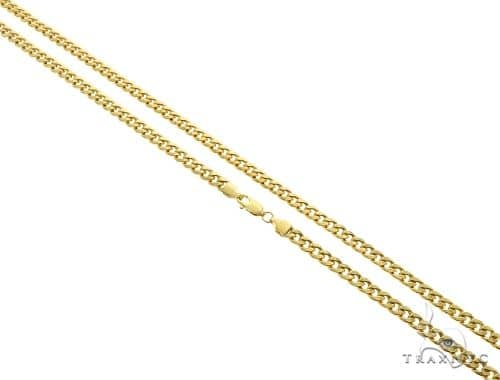10K Yellow Gold Hollow Cuban Link Chain 24 Inches 5mm 11.6 Grams 61610 Gold